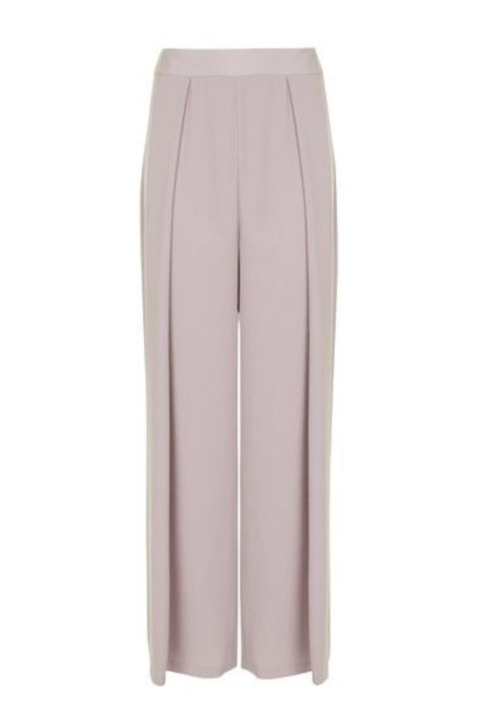 Womens TALL Wide Crop Leg Trousers - Lilac, Lilac
