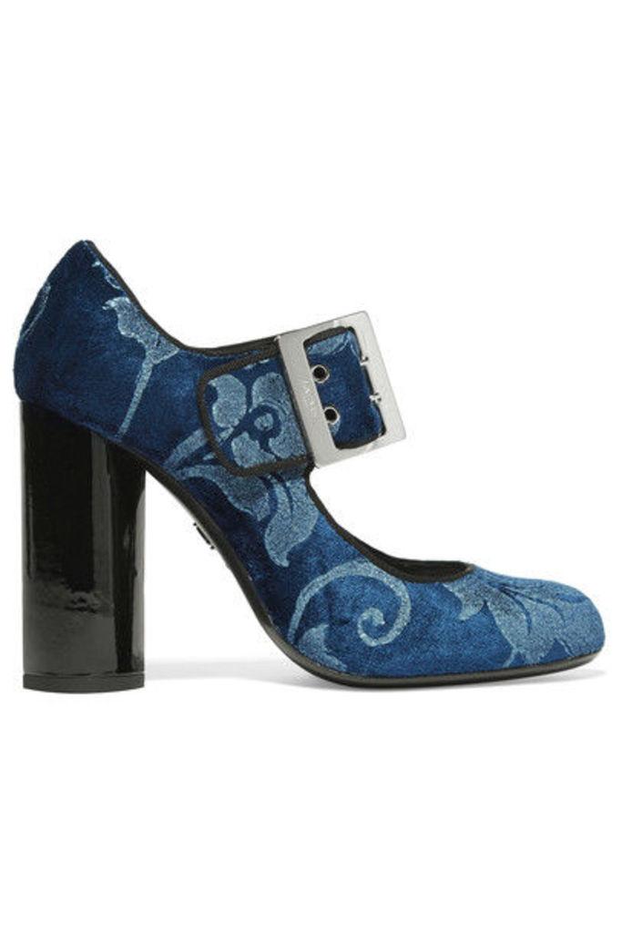 Lanvin - Brocade Mary Jane Pumps - Storm blue