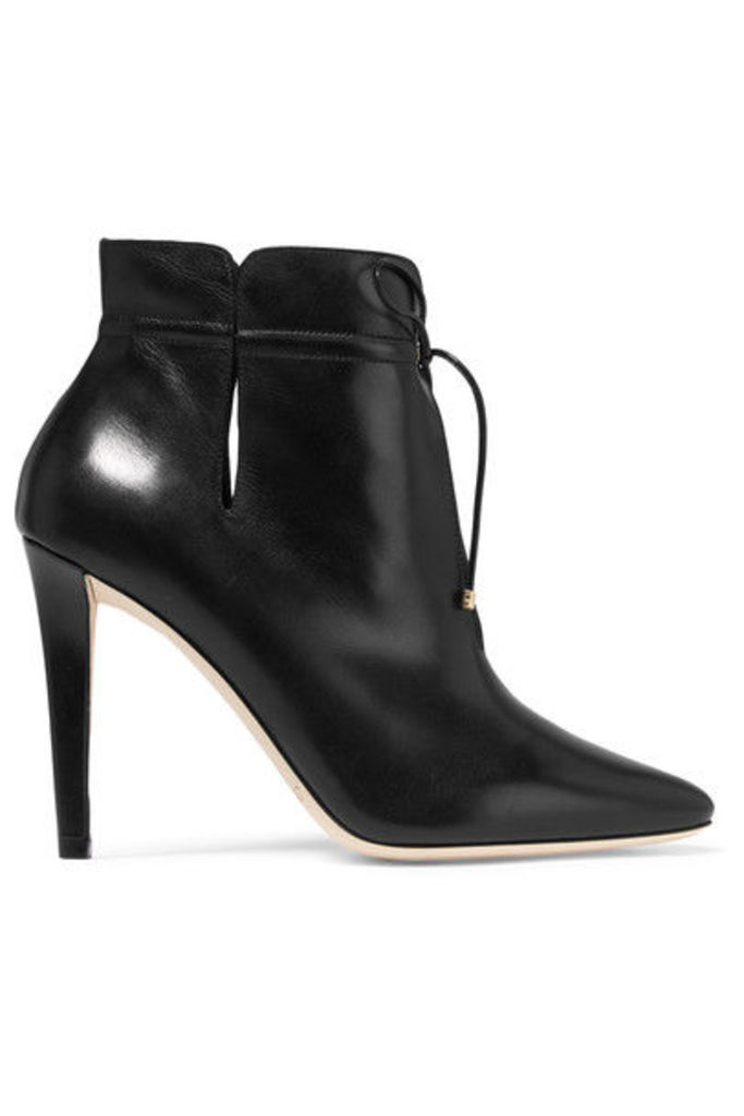 Jimmy Choo - Murphy Cutout Leather Ankle Boots - Black