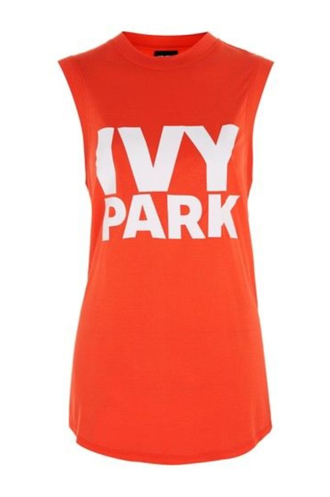 Womens Drop Armhole Tank by Ivy Park - Tomato, Tomato