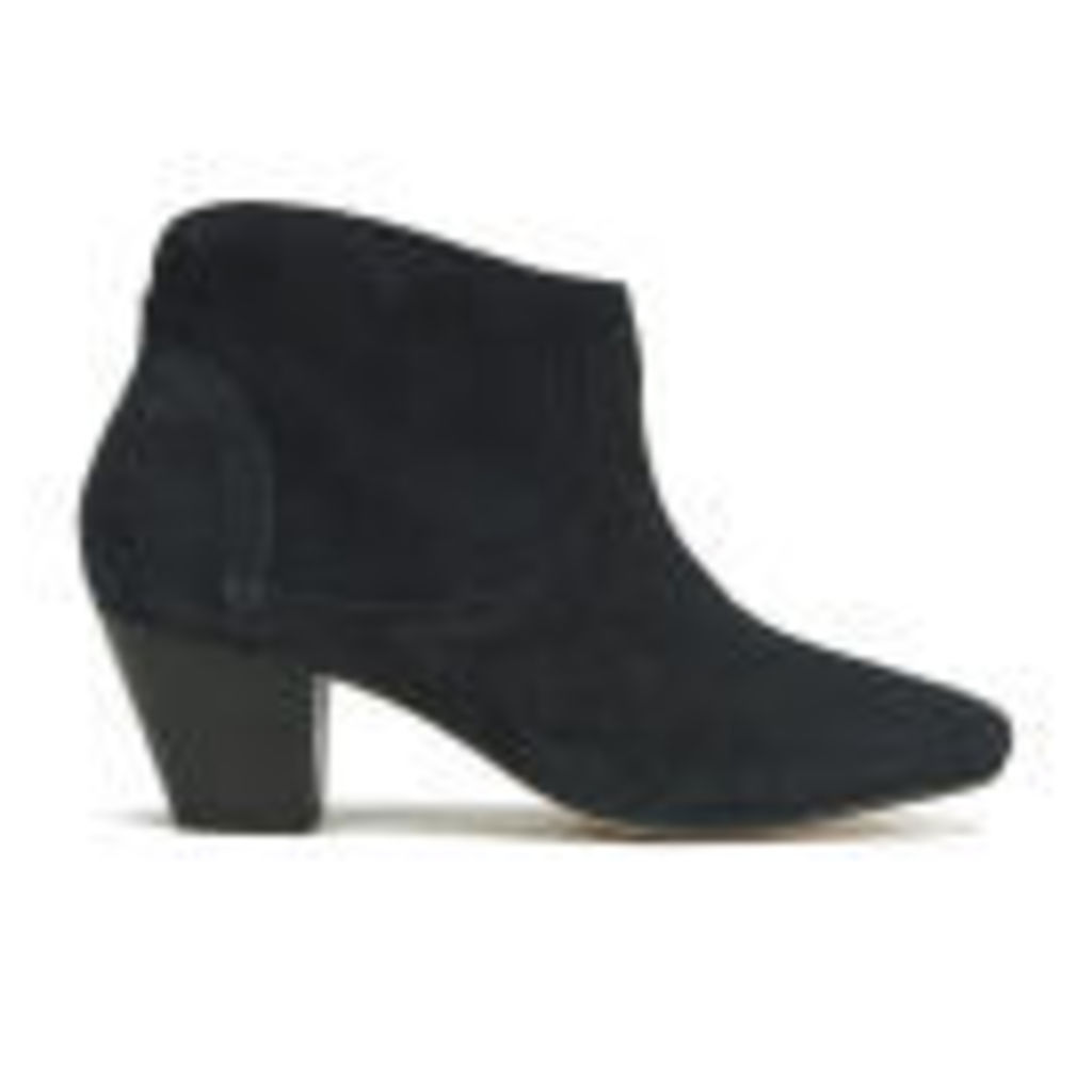 H Shoes by Hudson Women's Kiver Suede Heeled Ankle Boots - Black - UK 7
