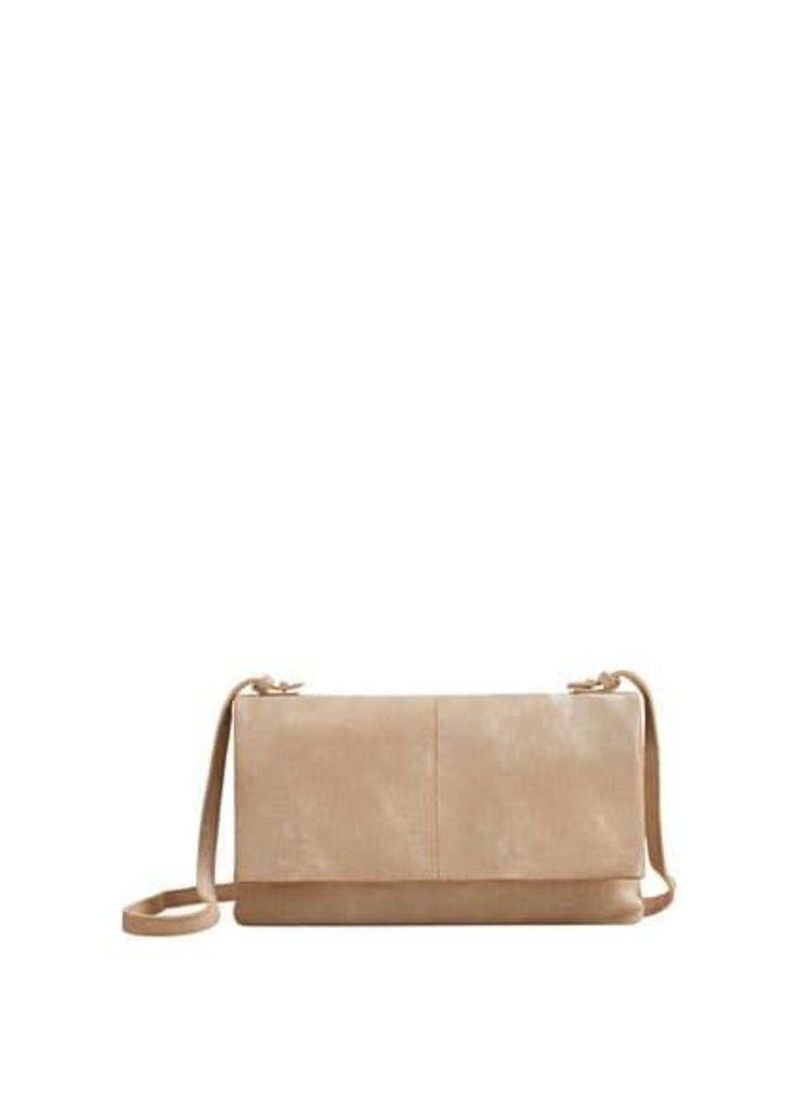 Flap leather bag