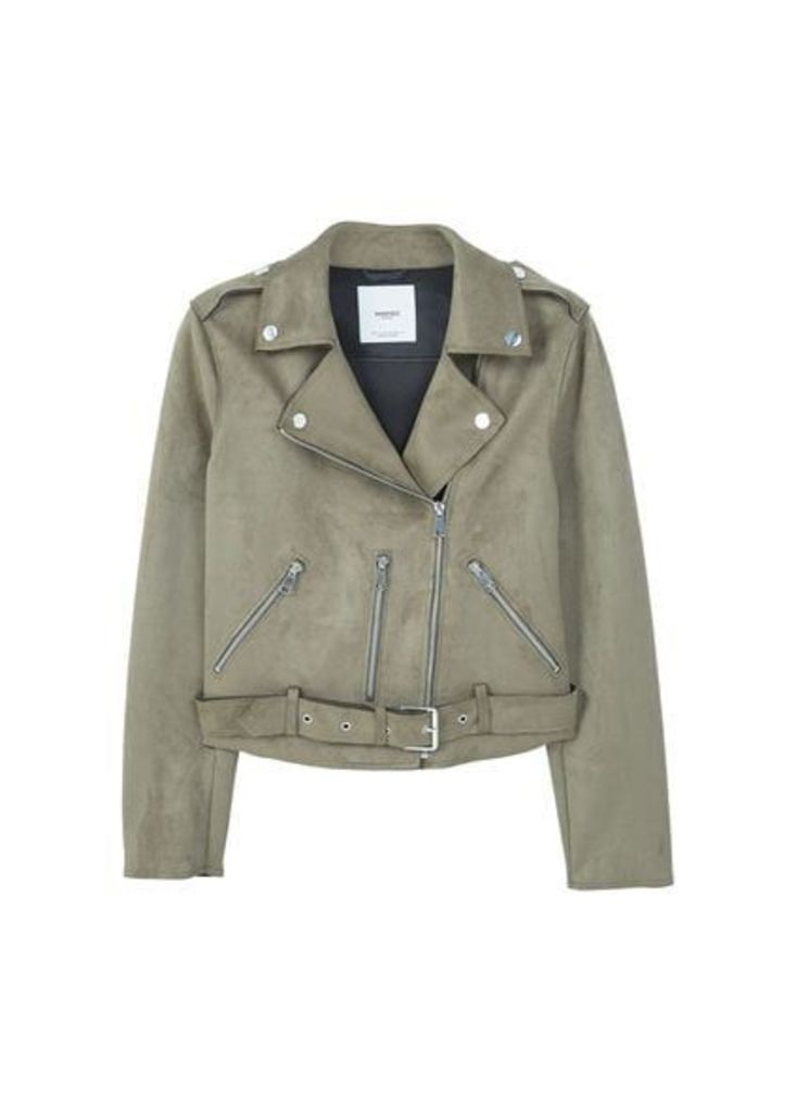 Crop biker jacket