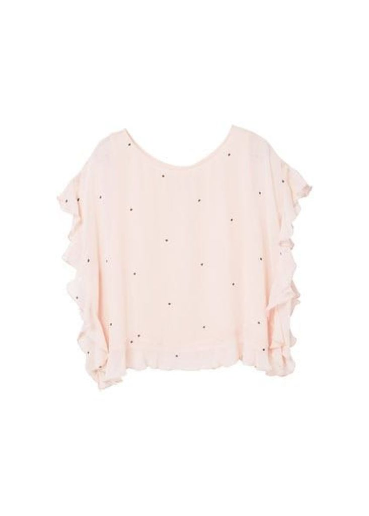 Ruffle printed blouse