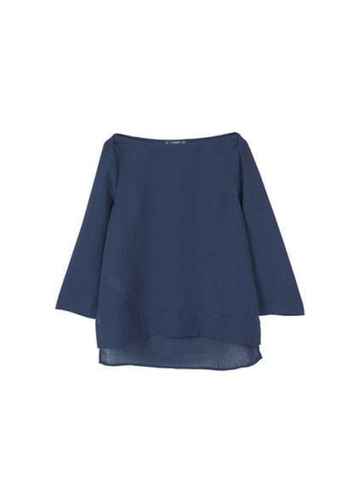 Side slit blouse