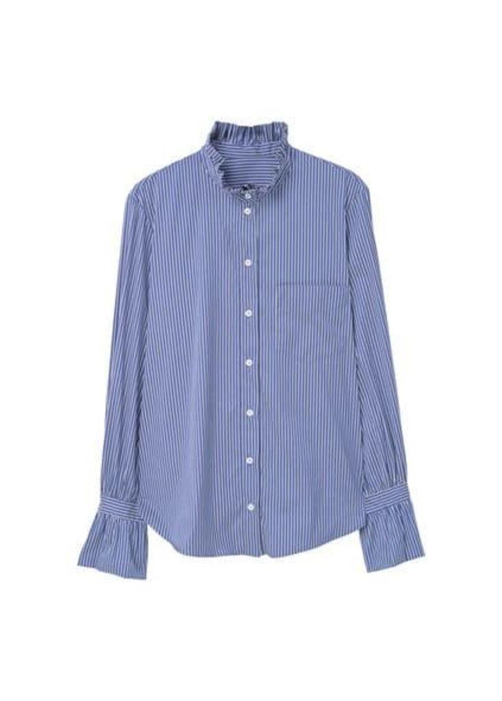 Ruffled cotton shirt