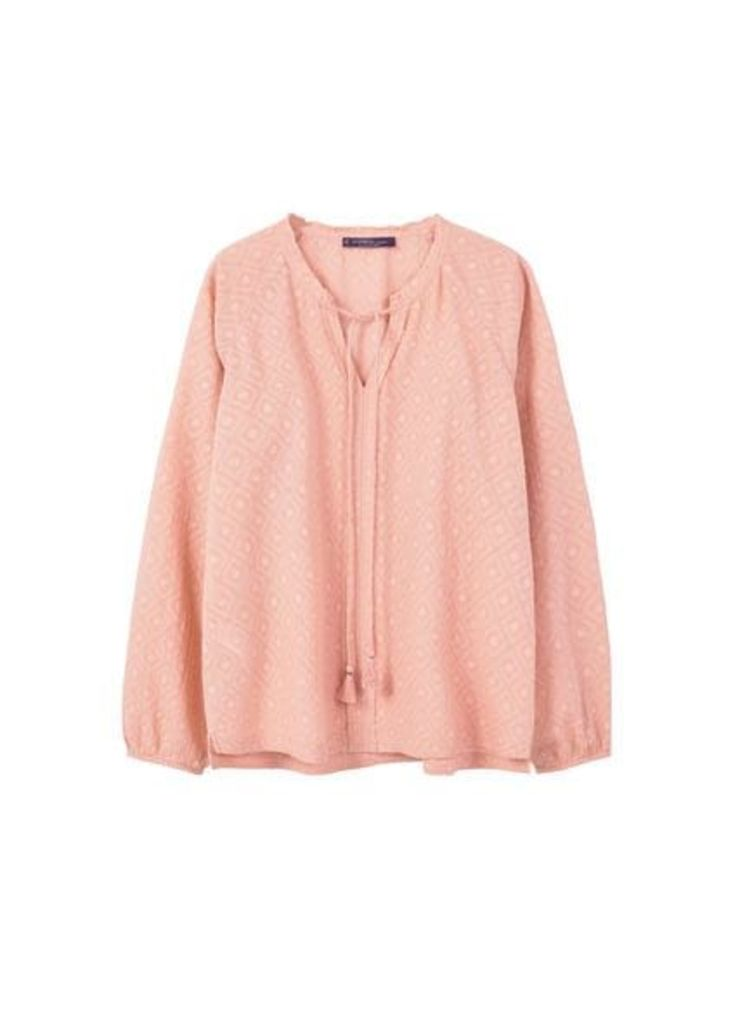 Rhombus textured blouse