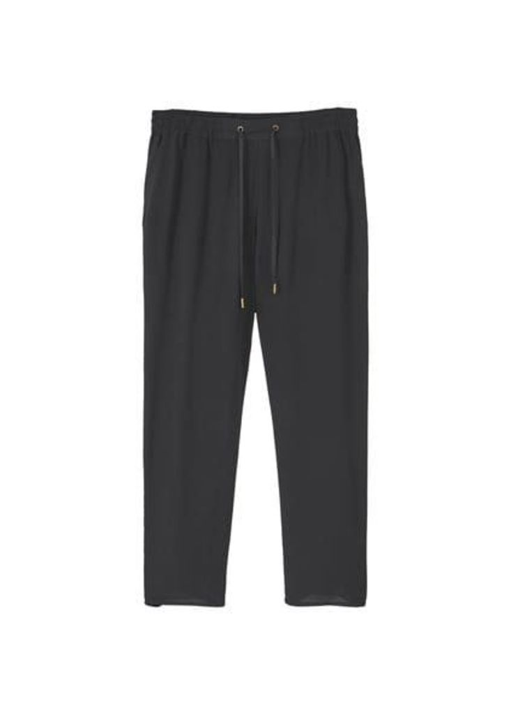 Drawstring baggy trousers
