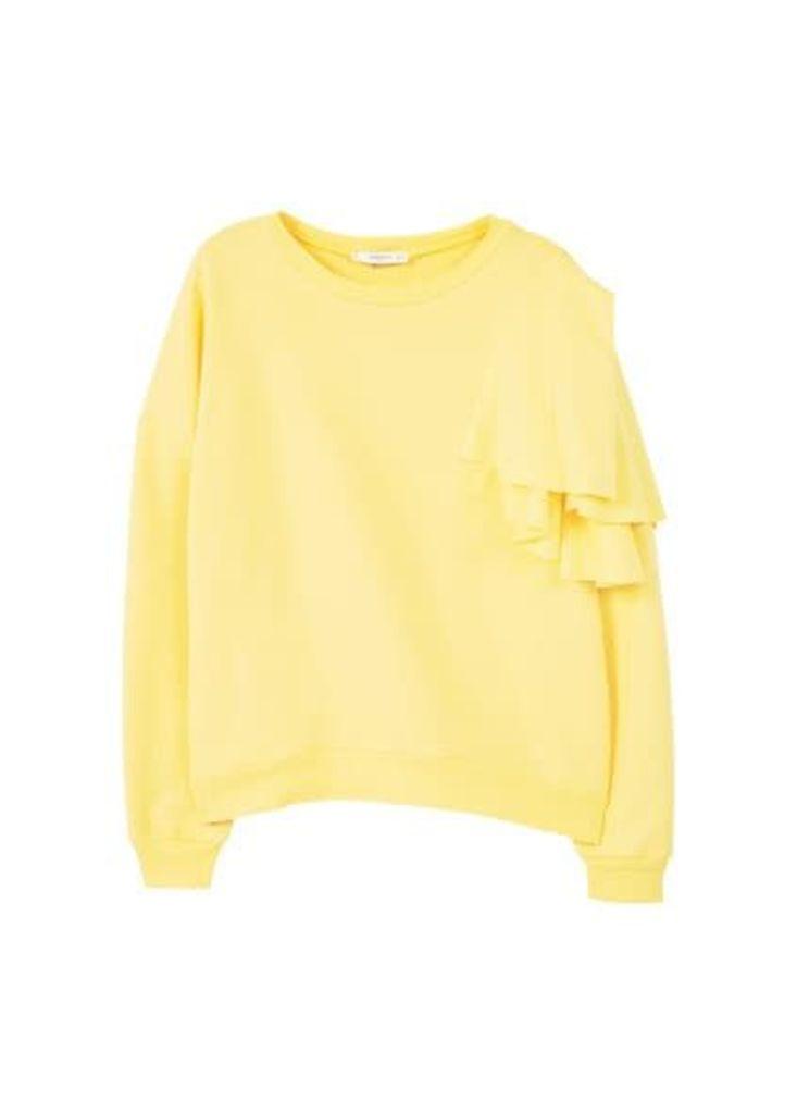 Ruffled cotton sweatshirt