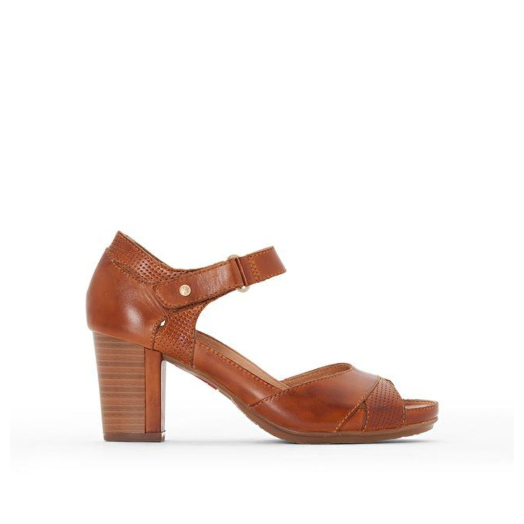 Java High-Heeled Leather Sandals