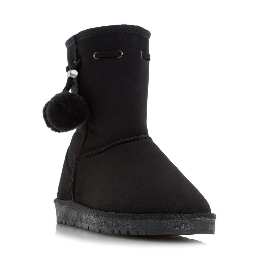 Rozz Warm Lined Pom Pom Calf Boot