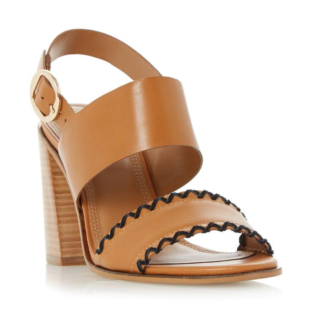 Jinx Whipstitch Flared Block Heel Sandal