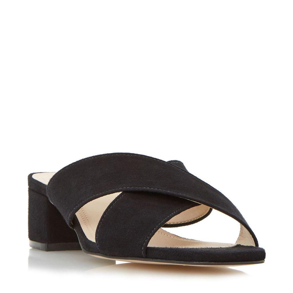 Junipar Cross Strap Block Heel Mule Sandal