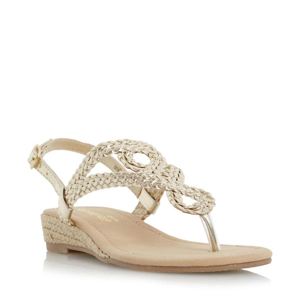 Levin Plaited Toe Post Sandal