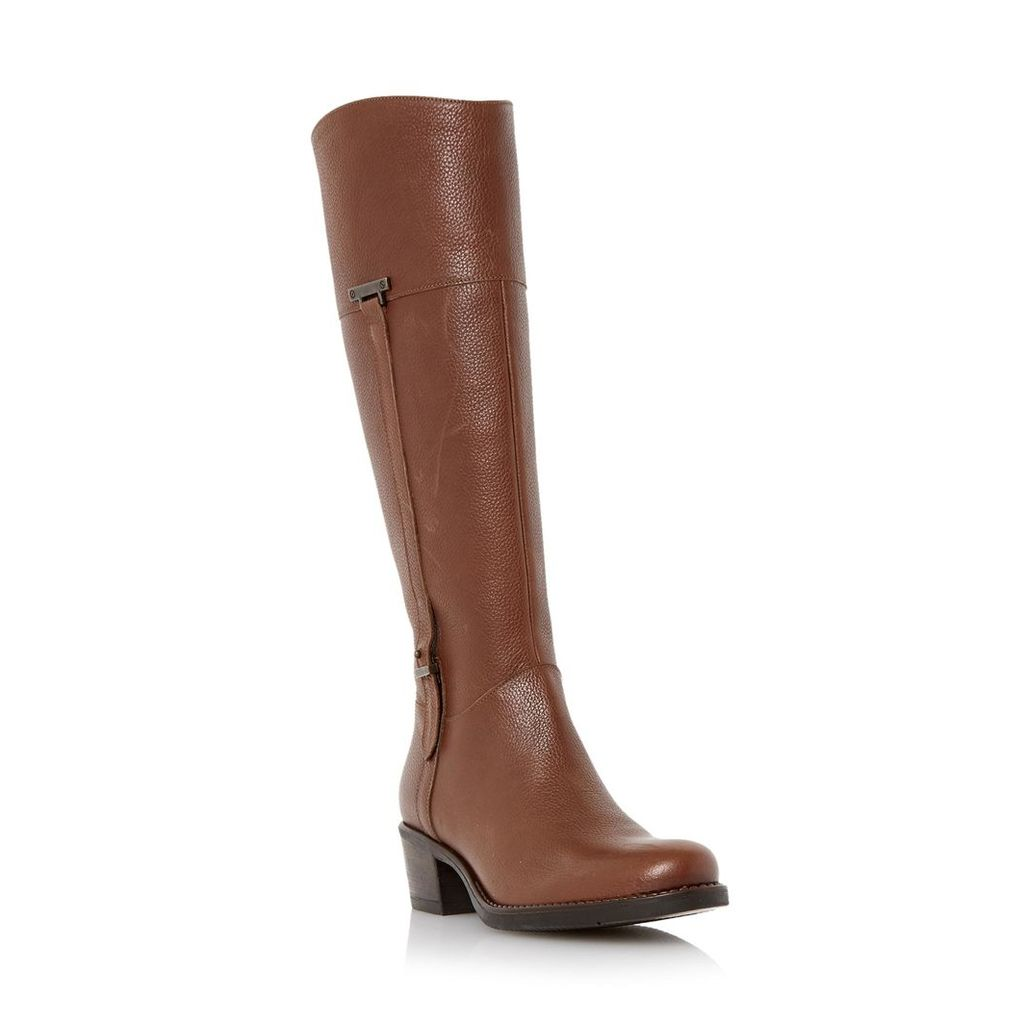 Tiptree Buckle Trim Leather Riding Boot