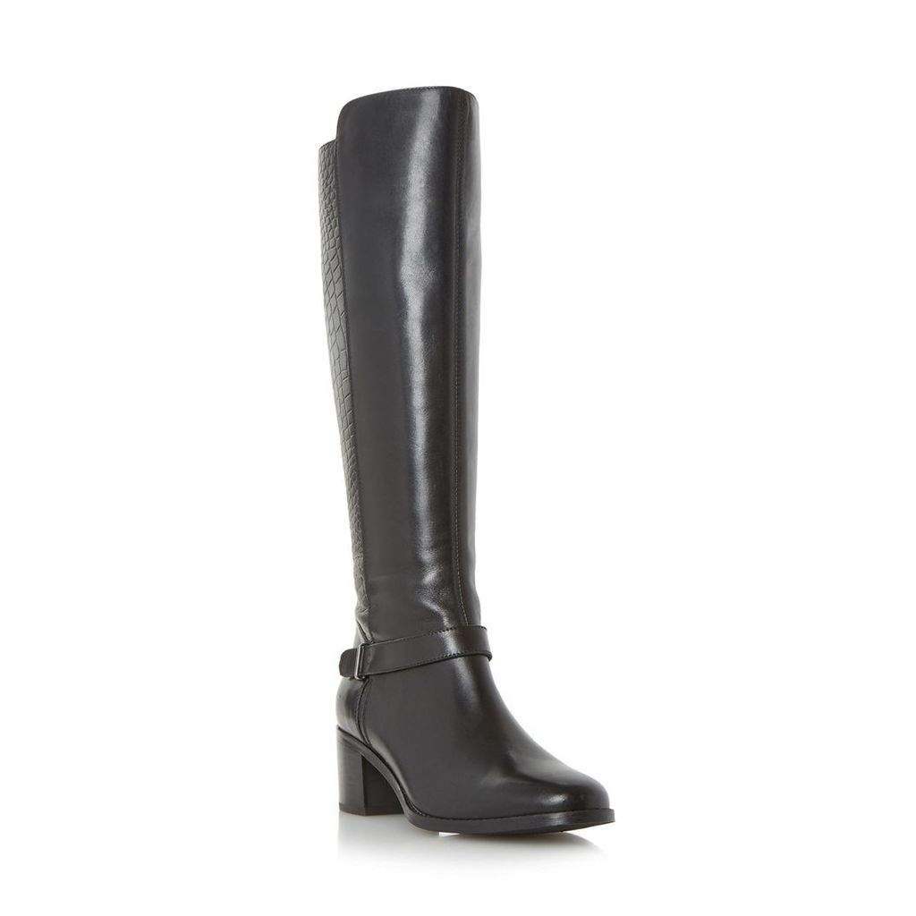 Trebel Mixed Material Knee High Boot