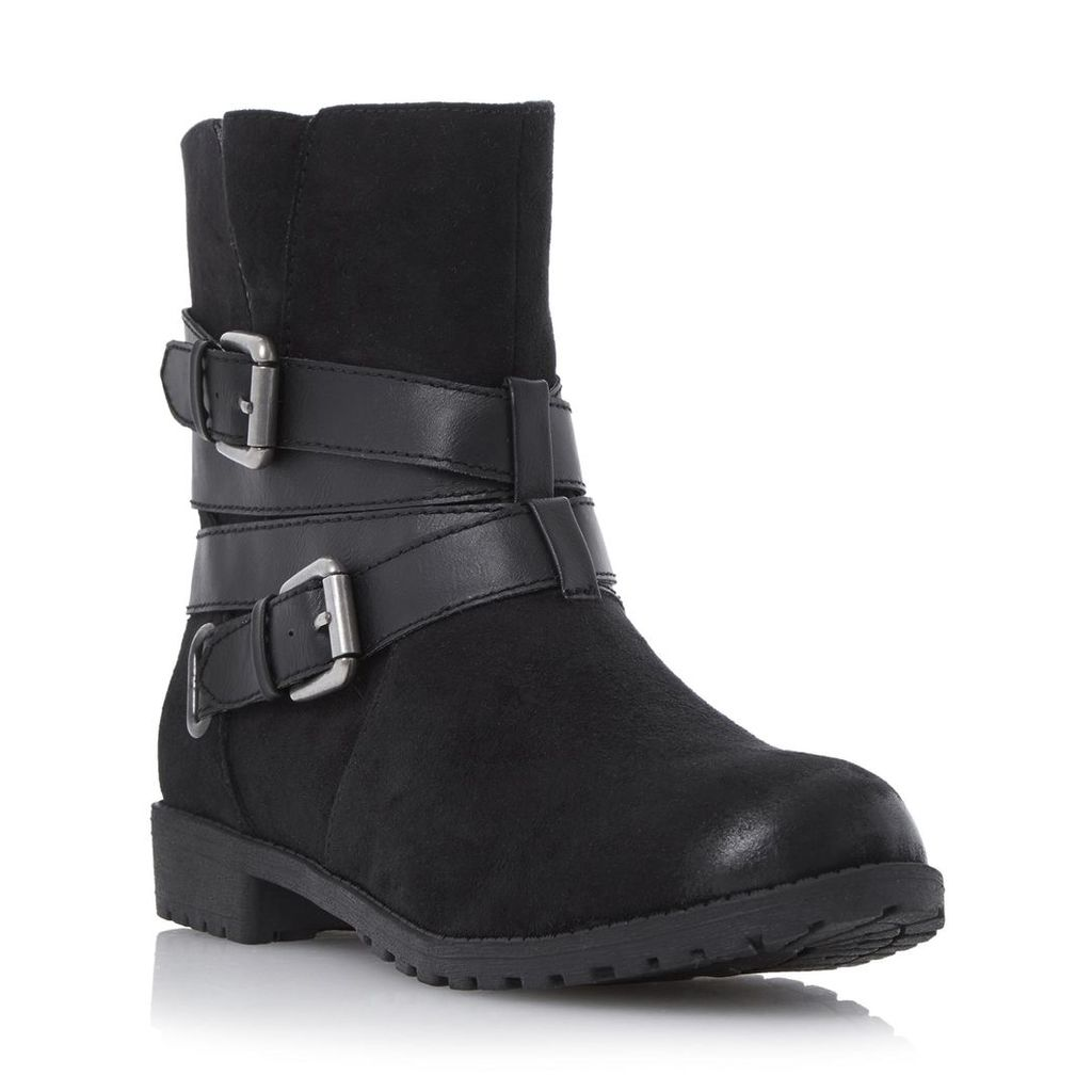 Reenan Double Buckle Wrap Ankle Boot