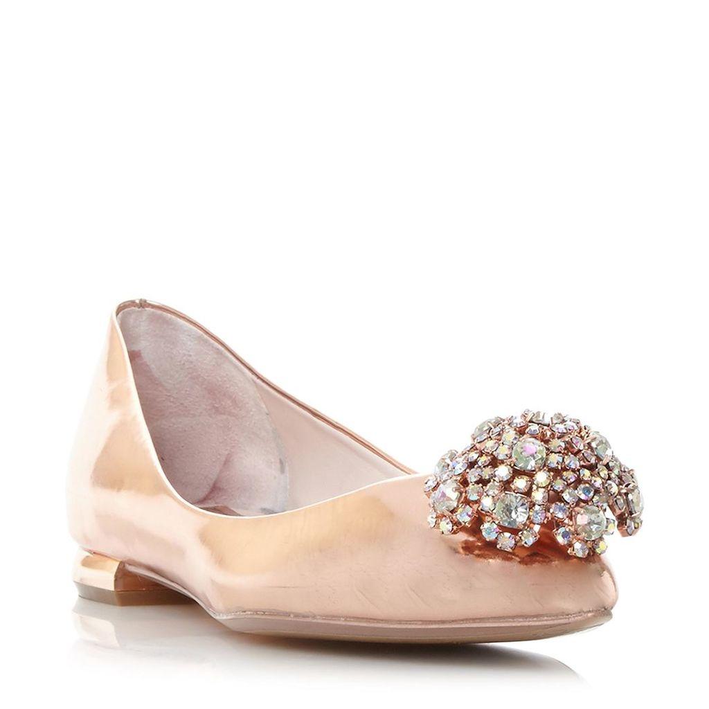 Ljana Brooch Detail Pointed Toe Flat Shoe