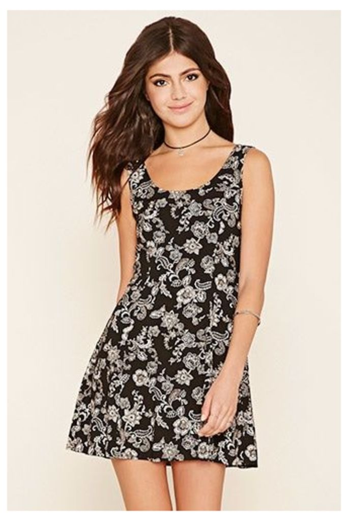 Floral Paisley Tie-Back Dress