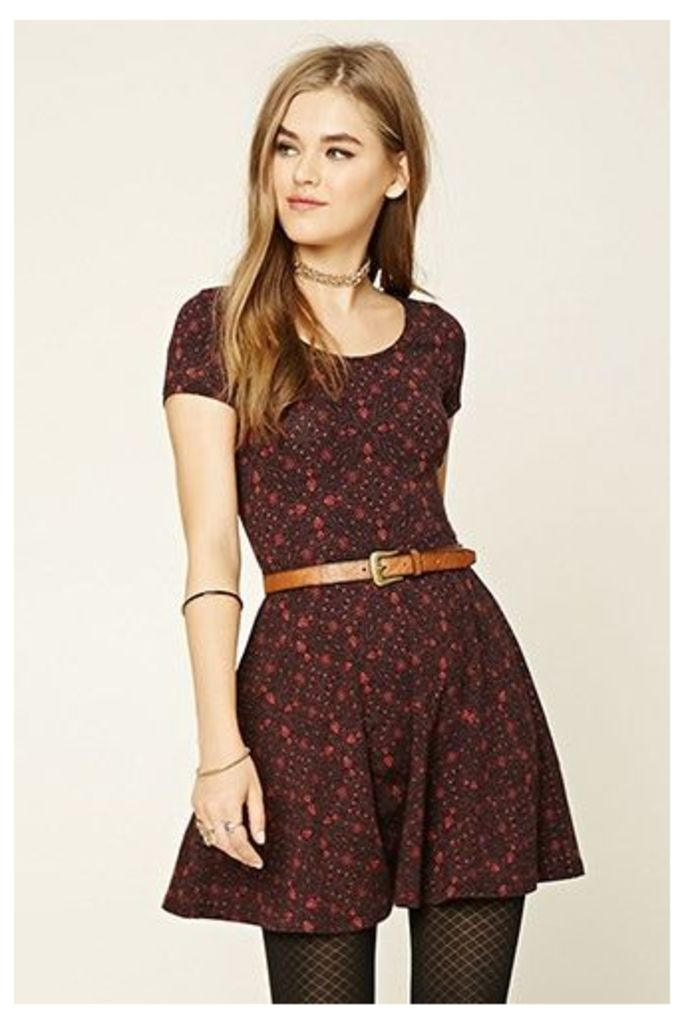 Stain Glass Print Skater Dress