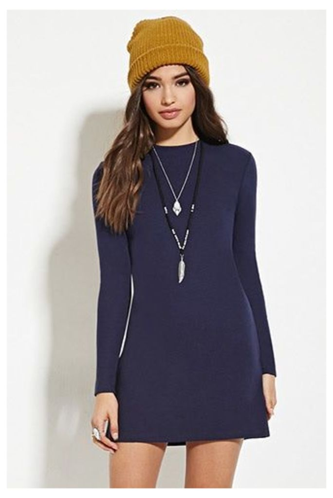 Zipper-Back Shift Dress