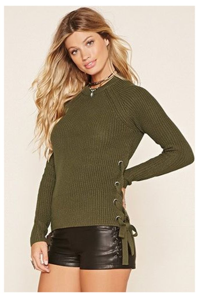 Contemporary Lace-Up Jumper