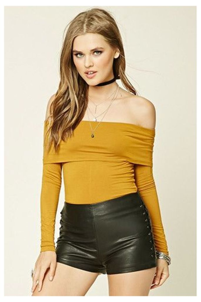 Fold-Over Off-The-Shoulder Top