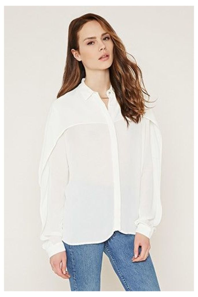 Layered Crepe Shirt