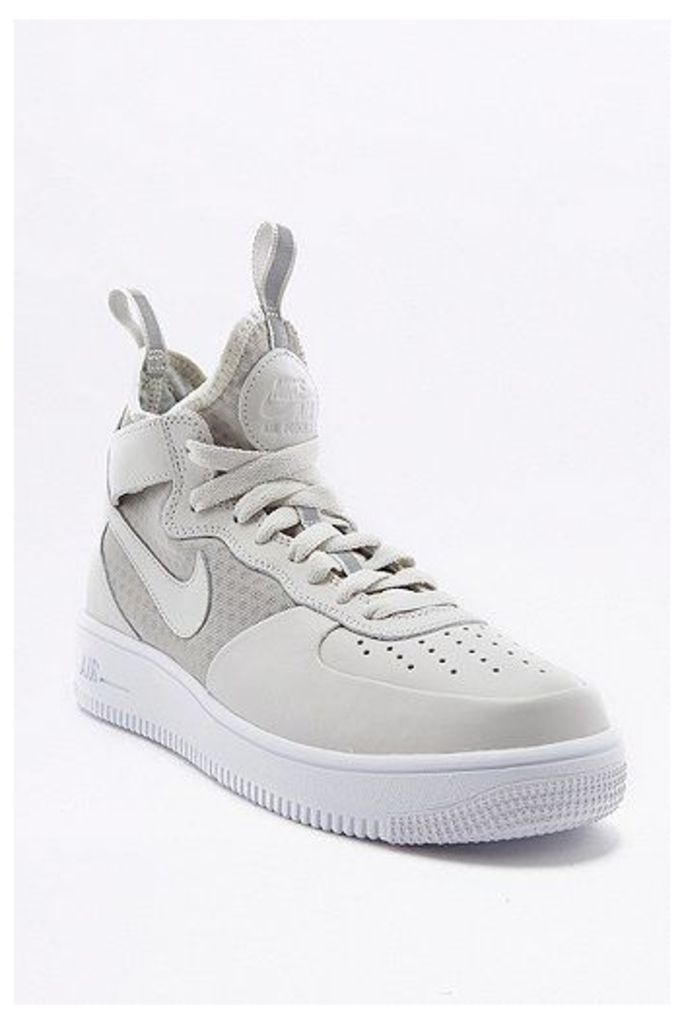 Nike Air Force 1 White Light High Top Trainers, White