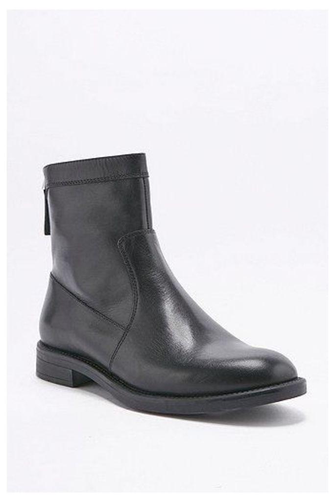Vagabond Amina Zip Sock Black Ankle Boots, Black