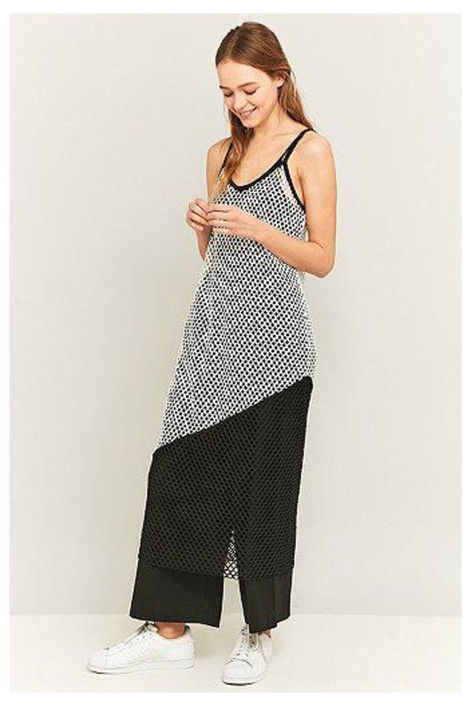 Light Before Dark Colour Block Fishnet Midi Slip Dress, Assorted