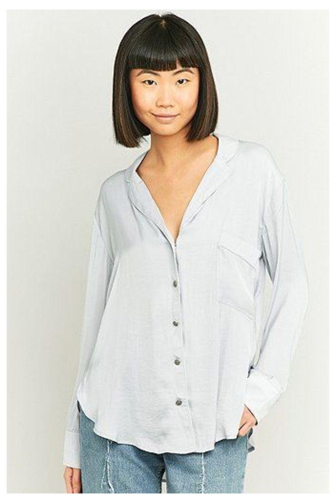 Silence + Noise Beckett Button-Down Shirt, Silver