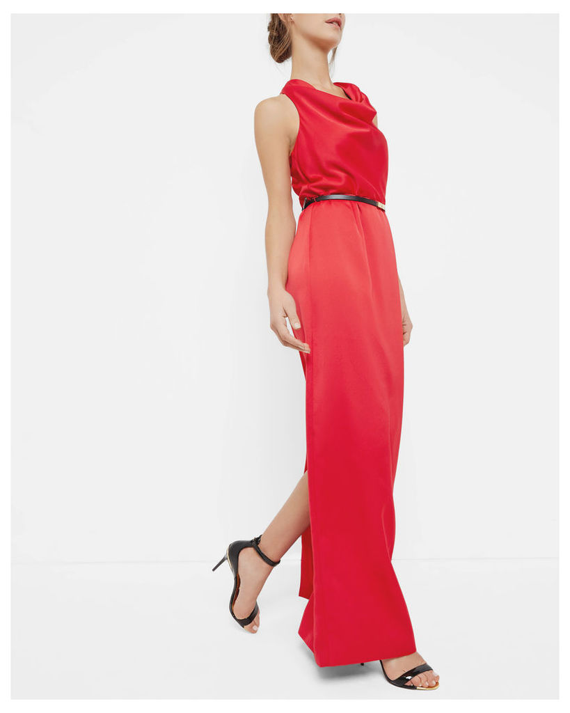 Ted Baker Cowl neck maxi dress Bright Red