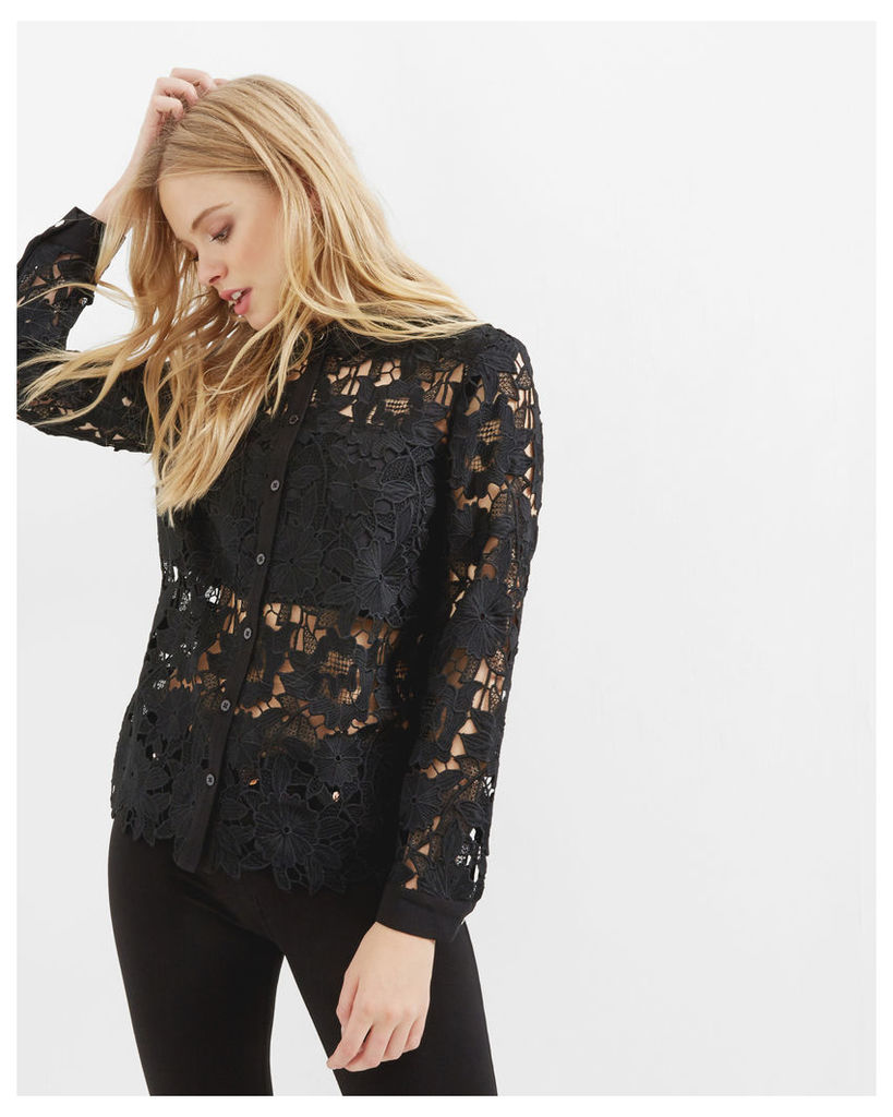 Ted Baker Lace panel shirt Black