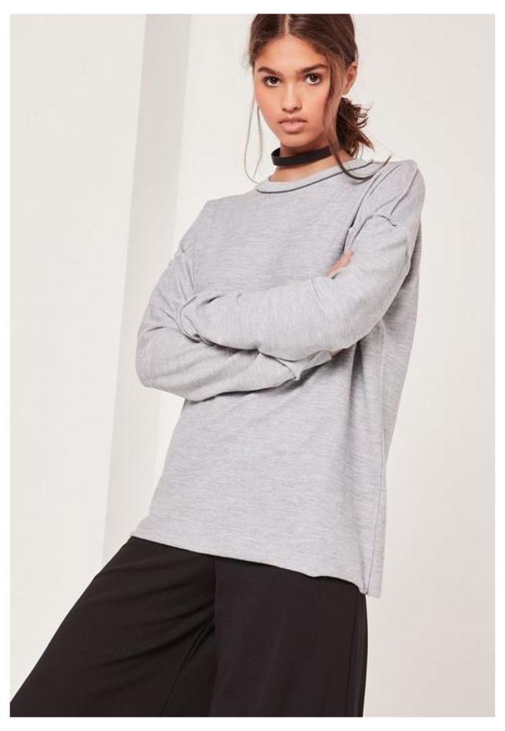 Seam Detail Sweatshirt Grey, Grey