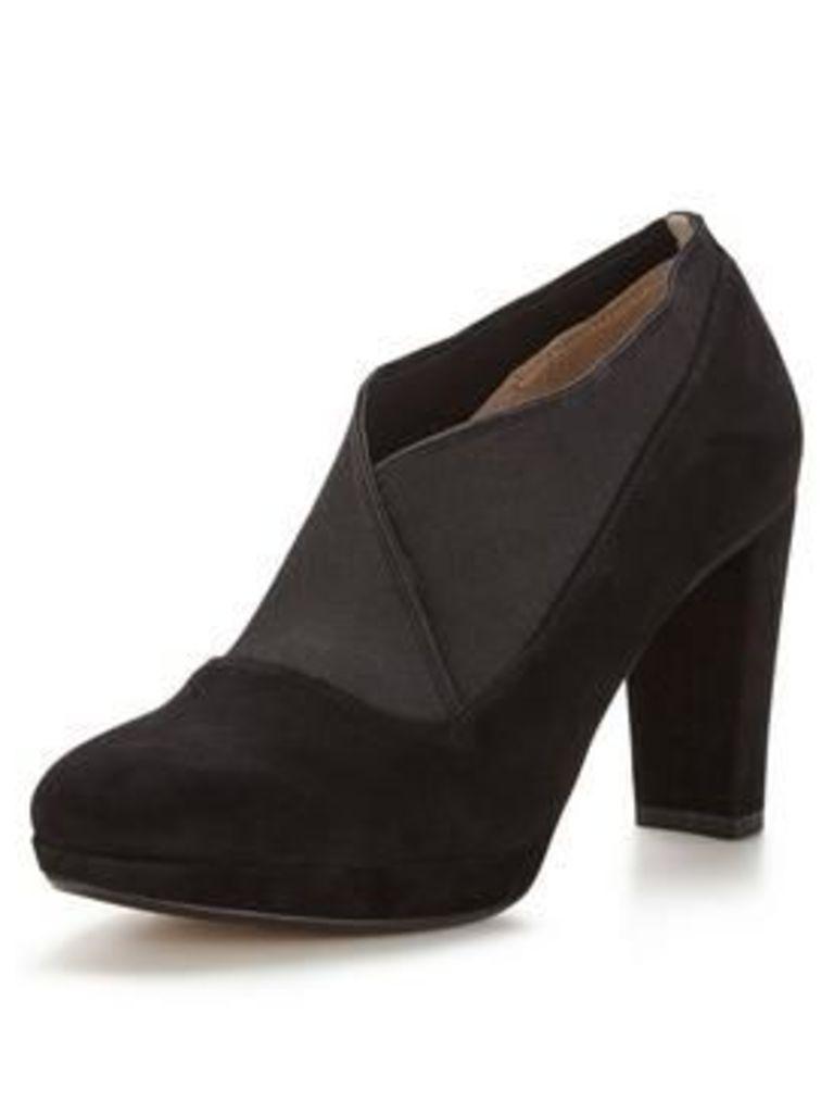 Clarks Kendra Mix Heeled Shoe Boot