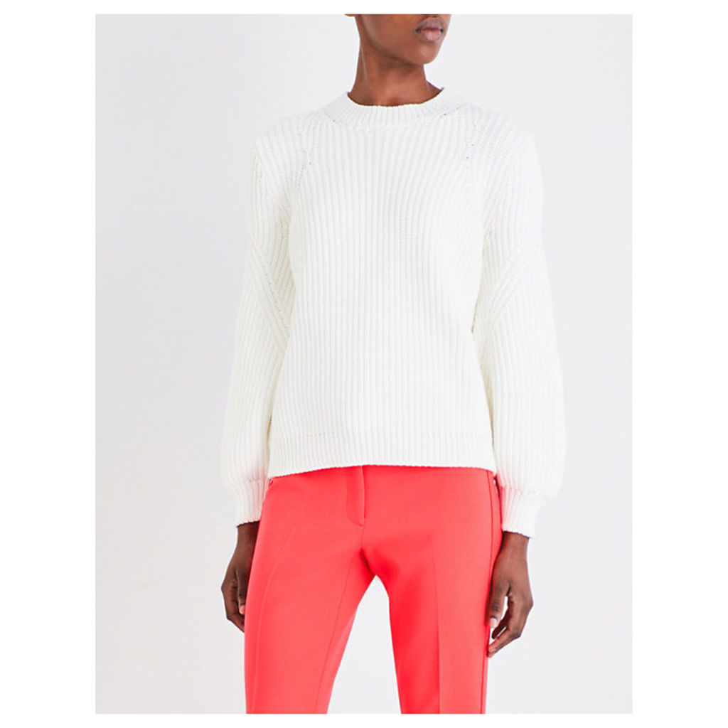 Victoria Beckham Needle Change Chunky-Knit Jumper, Women's, Size: 3, Bone Vkc1002