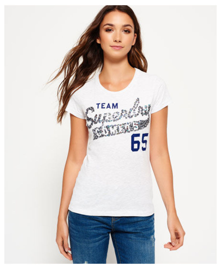 Superdry Sequin Team Comets T-shirt