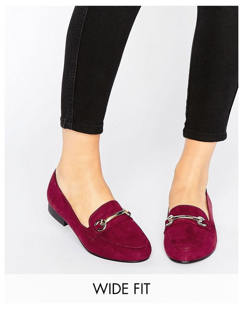 ASOS MINERAL Wide Fit Loafers - Oxblood