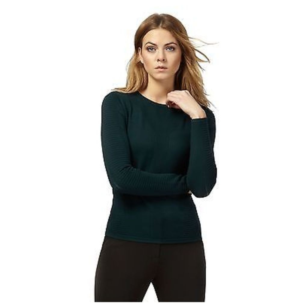 Principles Petite By Ben De Lisi Womens Dark Green Stitched Jumper