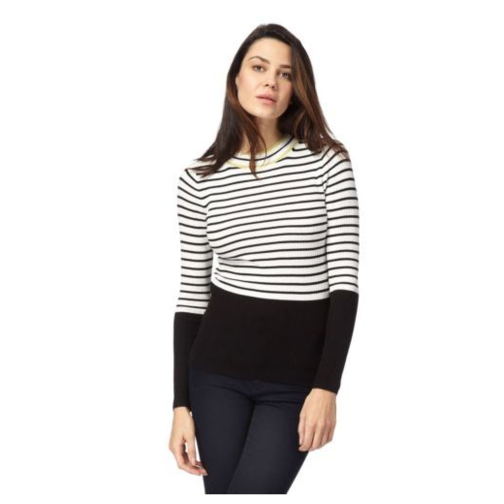Principles By Ben De Lisi Womens Black Striped Print Jumper From Debenhams