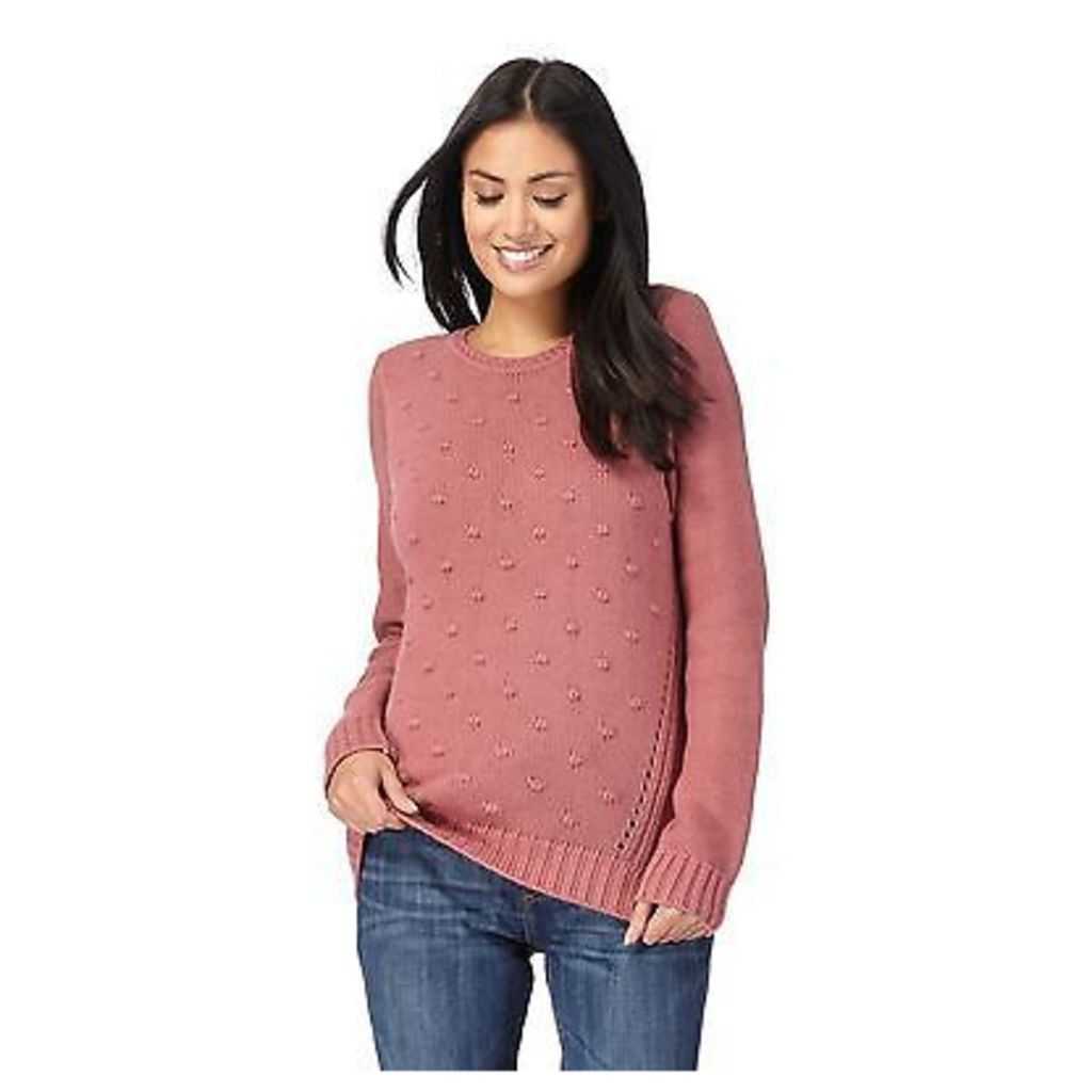 Mantaray Womens Pink Bobble Effect Jumper From Debenhams