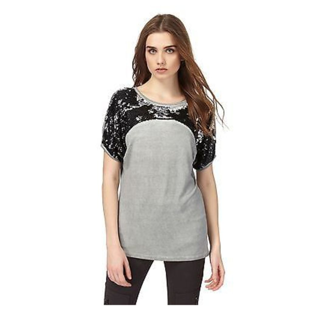 Nine By Savannah Miller Womens Grey Sequin Embellished Top From Debenhams