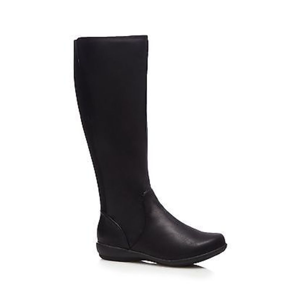 Good For The Sole Womens Black Knee High Flat Wide Fit Boots From Debenhams