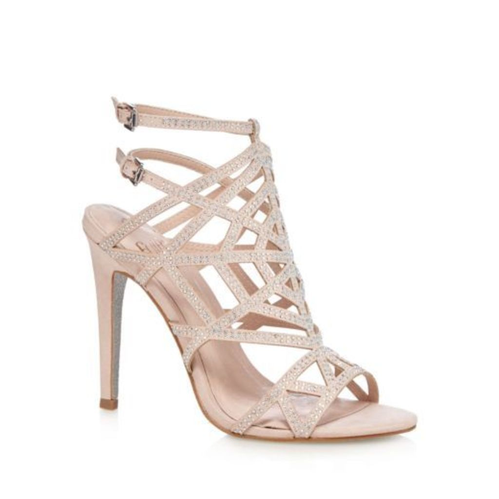 Faith Womens Pale Pink Studded High Sandals From Debenhams