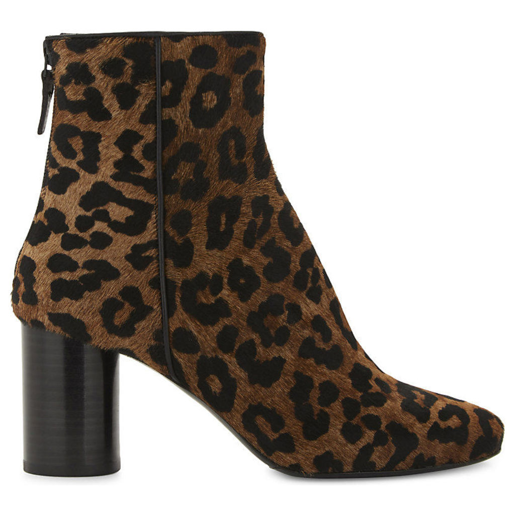 SANDRO Sacha haircalf ankle boots, Women's, Size: EUR 39 / 6 UK Women, Leopard