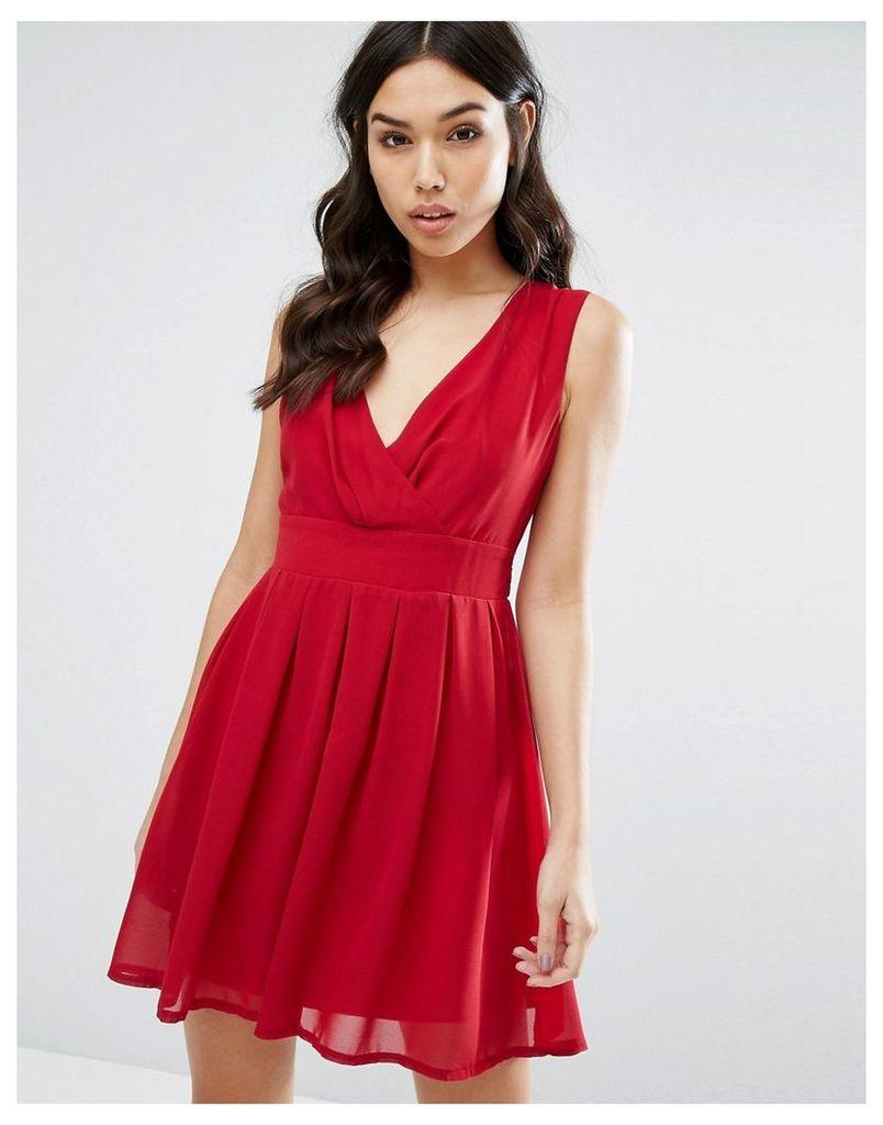 Jasmine Skater Dress - Red