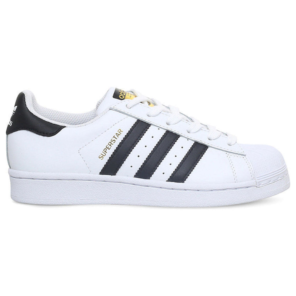 ADIDAS Superstar J leather trainers 9-11 years, Women's, Size: EUR 38 / 5 UK Adult, White/Black