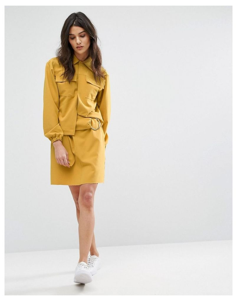 House Of Sunny Mini Skirt With Ring Detail Co-Ord - Sunrise