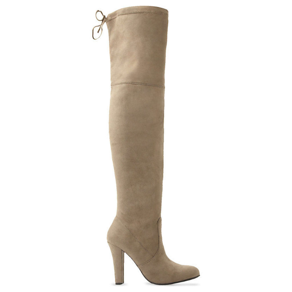 STEVE MADDEN Gorgeous suede over-the-knee boots, Women's, Size: EUR 40 / 7 UK Women, Taupe-Micro Fibre